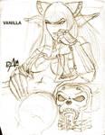 Vanilla ink sketch by dmario