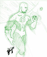 John Stewart sketch by dmario