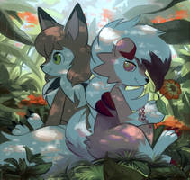 lycanrocs by Psiaus