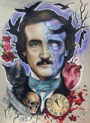 Edgar Allan Poe drawing by evanartt