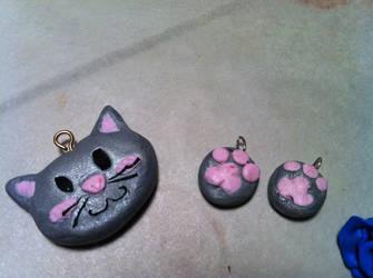 Cat charm by PiccolaKaila