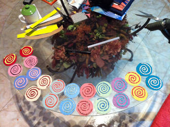 Rainbow of rolled cake XD by PiccolaKaila