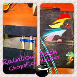 Rainbow Dash chopstick Holder - KailArt Creations by PiccolaKaila