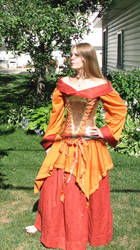 Metal Corset and Dress by Chebanse