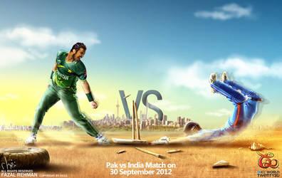 Pak vs Ind T20 match by injured-eye