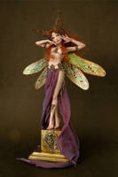 ART NOUVEAU DRAGONFLY FAERIE 2 by wingdthing