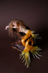 Lonely Goldfish Mermaid 2 by wingdthing