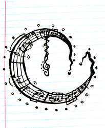 Music Moon Tattoo by SqueezyCheezeJezus