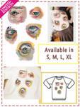 LIMITED EDITION Gouache Eyes Long Sleeve Shirt by Fiolettakk2