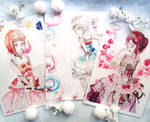 Love Live Sunshine Art Prints Second Years by Fiolettakk2
