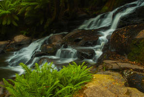 Lower Triplet Falls by B-LightPhotography