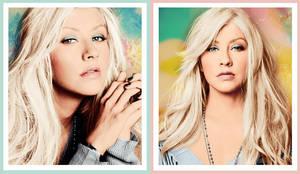 Christina Aguilera colorizations by Missesglass