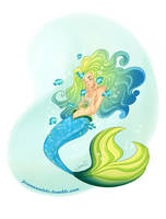 Blue tang mermaid by kalmita