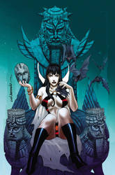 Vampirella #25-RisqueCover lineArt by Lui Antonio by stompboxxx