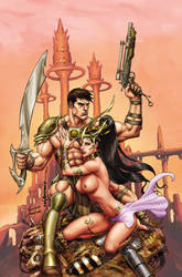 WarlordofMars #23 RisqueCover lineArt LuiAntonio by stompboxxx