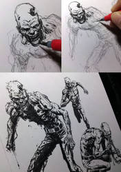 Zombies by stompboxxx