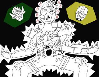 Inktober #21 - Genm Furioso by Mr-BlueArt