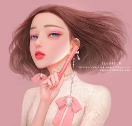 Indi pink make up Lily. by lily-nuga