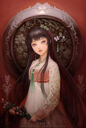 han bok illust  remake.with background by lily-nuga