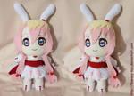 Hearte Bunny Chibi plush by Flowery-Cemetery