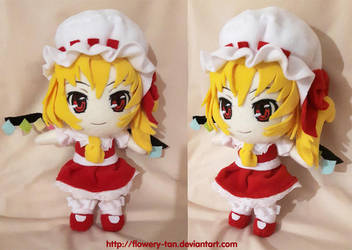 Flandre Scarlet Chibi plush by Flowery-Cemetery