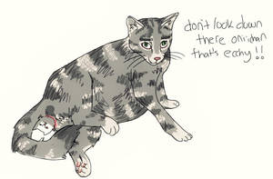 rotoscoped cat giving birth by Nyannyanxo