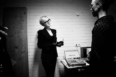 Eva Poleschinski backstage by Staged
