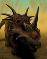 Styracosaurus by MicrocosmicEcology