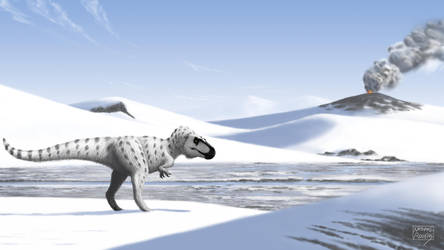 Arctic Tyrant (Nanuqsaurus hoglundi) by MicrocosmicEcology