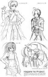 Hagane no Project - Sketches by CharmingYuuta