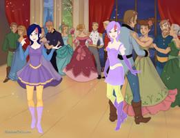 OUAT Carmelita at the ball by PrettyShadowj28