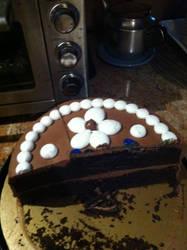 Half Chocolate Layer Cake by PrettyShadowj28