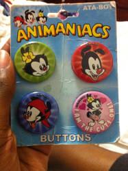 Animaniacs Buttons by PrettyShadowj28