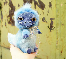 Little Blue dragon by Werdiga