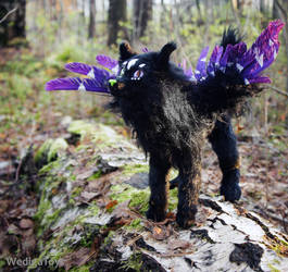 Black wolf by Werdiga