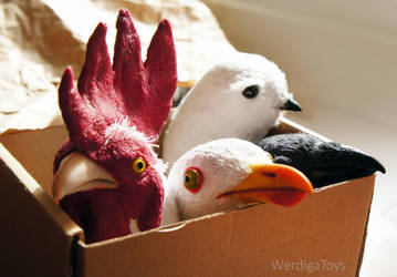 bird's heads by Werdiga