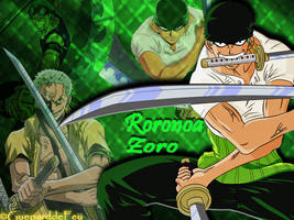 Wallpaper Zoro by GueparddeFeu