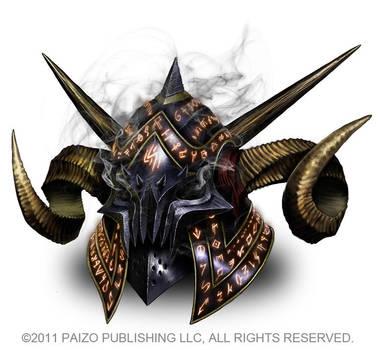 Evil Horned Helmet by Akeiron