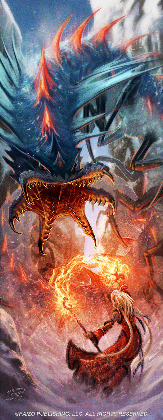 Seoni VS Remorhaz by Akeiron