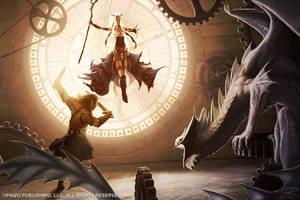 White Dragon Battle by Akeiron