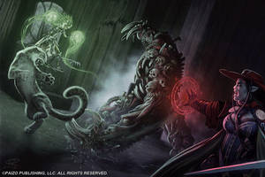 Bone Golem Battle by Akeiron
