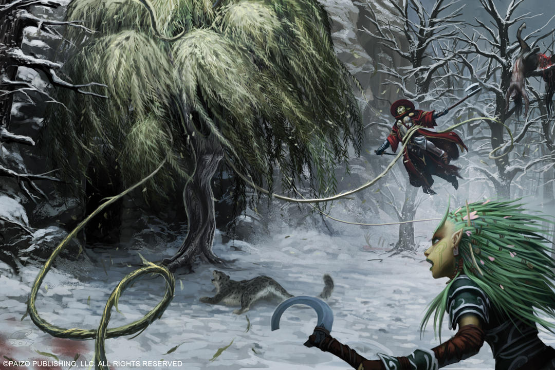 Witch Tree Battle by Akeiron