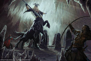 Frost Giant Centaur Battle by Akeiron
