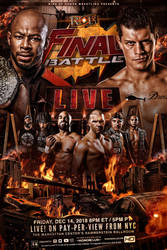 ROH Final Battle 2018 official poster artwork by THE-MFSTER-DESIGNS