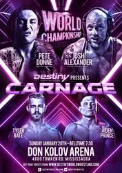 Destiny Wrestling CARNAGE official poster artwork by THE-MFSTER-DESIGNS