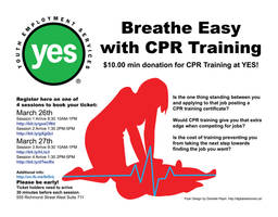 Breath Easy CPR Poster Design by Dandy-L