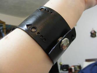 Leather Wrist Band - DB7 by Dandy-L