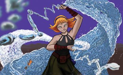 Water Weaver - Sundered Ark Card Art by Dandy-L