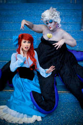 Ariel and Ursula Sea Witch by trueenchantment