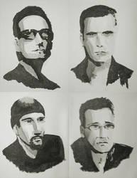 Black Ink - U2 by starvingartist